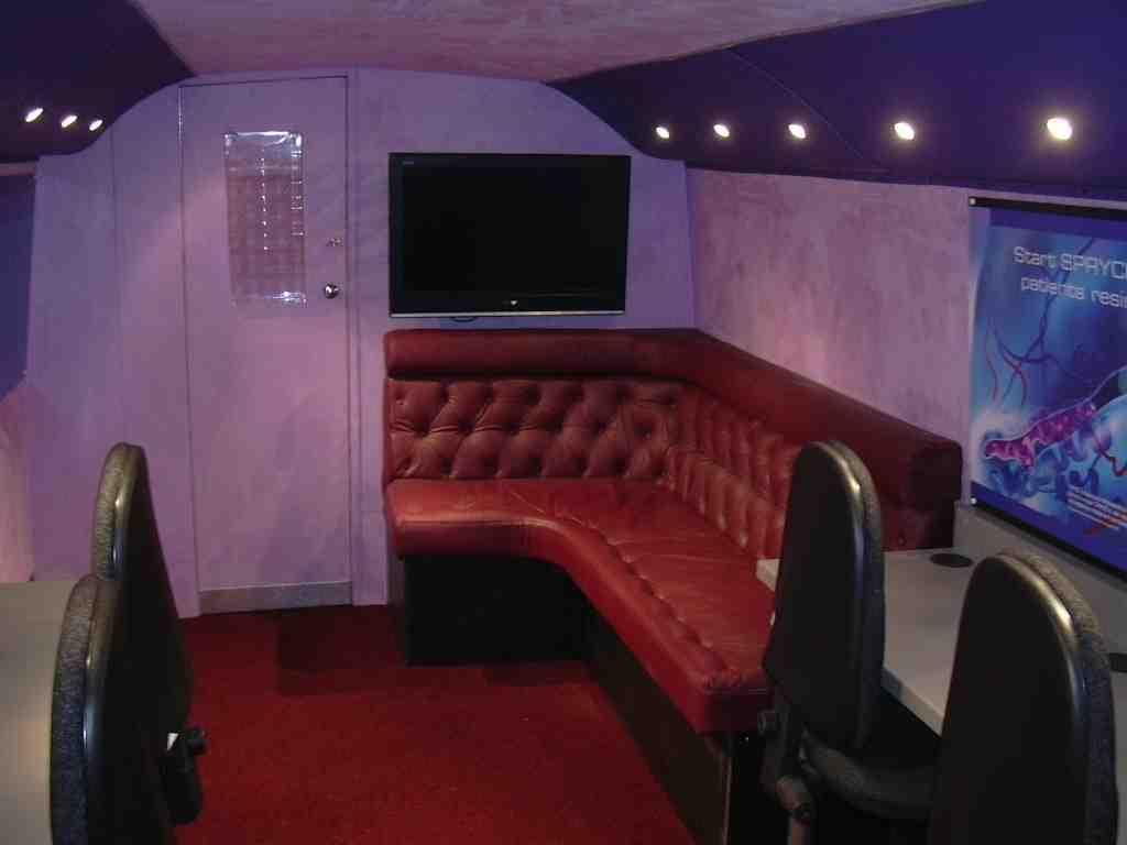 Bus conversion - internal seating area